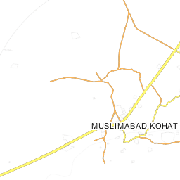 MUSLIMABAD KOHAT Map Map Of MUSLIMABAD KOHAT City - Kohat map