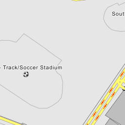 track & field and soccer stadium on the campus of rice university in  houston, texas