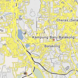 Kajang Map, Map of Kajang city