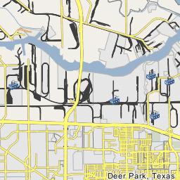 on deer park texas map