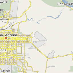 Map Of Arizona Counties And Major Cities.Phoenix Arizona City Capital City Of State Province Region